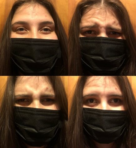Facial feature frustration: Learning with masks