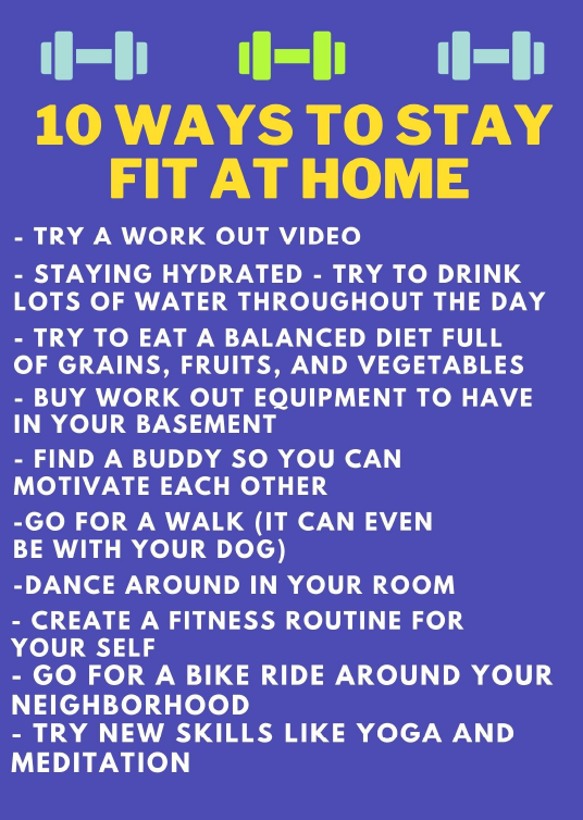 10 ways to stay fit at home