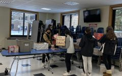GSALC members assembled birthday boxes in the senior cafeteria.
